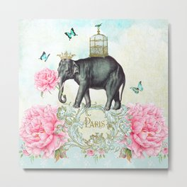 Paris Elephant Metal Print
