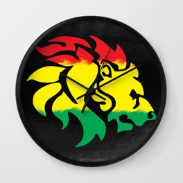 Rastafari Lion Wall Clock