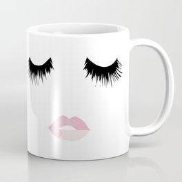 Eyelash Lip Print Coffee Mug