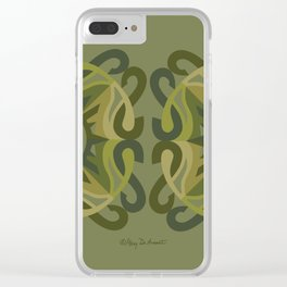 Safe Mandala x2 - Olive Green Clear iPhone Case