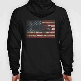 Black Buffalo Distressed American Flag in Color Hoody