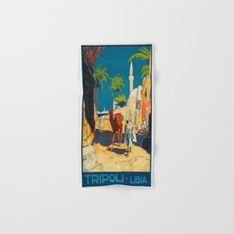 Vintage poster - Tripoli Hand & Bath Towel