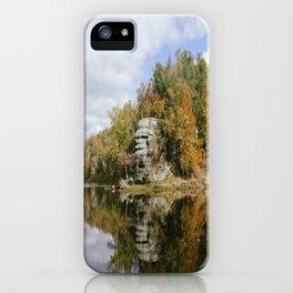 Lake Vesuvius Rock Edge, Wayne National Forest, Oh, 2014 iPhone Case