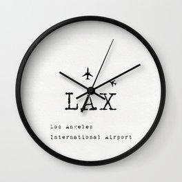 LAX Los Angeles international airport Wall Clock