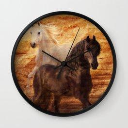 Ebony and Ivory Wall Clock