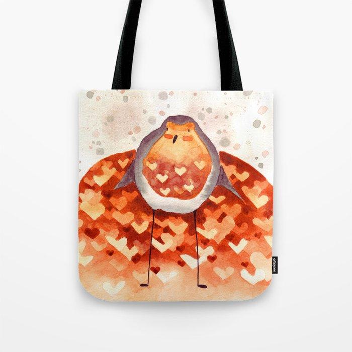 Robin and Love Tote Bag