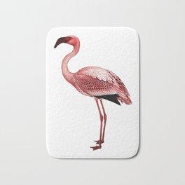 Flamingo vintage illustration Bath Mat