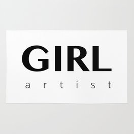 Girl Artist Rug