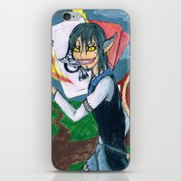 cheshire iPhone & iPod Skins featuring Cheshire by SofusGirl