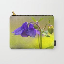 Purple Columbine In Spring Mood Carry-All Pouch