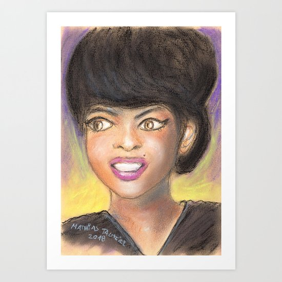 Art print painting Tammi Terrell 1945-1970
