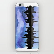 London Skyline 2 Blue iPhone & iPod Skin