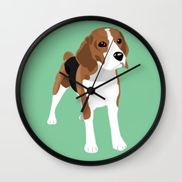 Beagle - Green Wall Clock