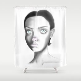 Dust Shower Curtain