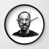 jay fleck Wall Clocks featuring Jay-Jay by Jay Golding