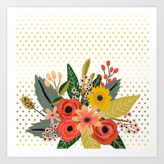 Flowers bouquet #1 Art Print