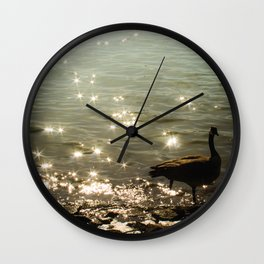 Solitary moment Wall Clock
