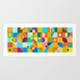Shapes & Colors Art Print