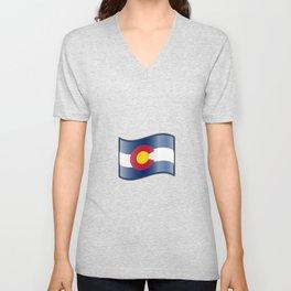 Waving Colorado Flag  Unisex V-Neck