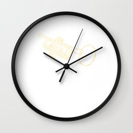 Trumpet Player Musician Jazz Trumpeter Gifts Wall Clock