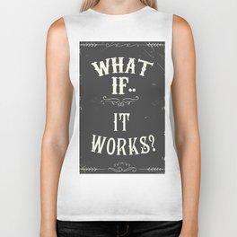 What if..it works? Chalkboard Biker Tank