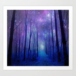 Fantasy Path Purple Blue Art Print