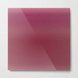 Subtle Stripe Coral and Pink Pattern Metal Print