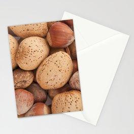 Hazelnuts and almonds Stationery Cards