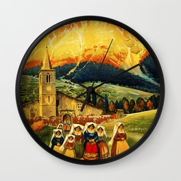 Vintage Abruzzo Italy Travel Wall Clock
