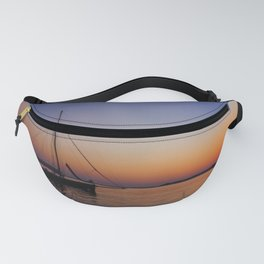 Cape Cod Sunset on Water with Sailboat Fanny Pack