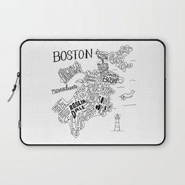 Boston Map Laptop Sleeve