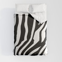 Monochrome Zebra Stripe Print Comforters
