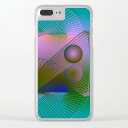 Lightpainting Clear iPhone Case