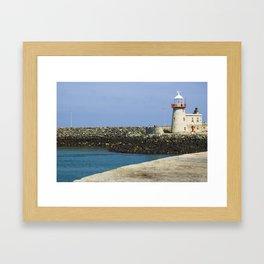 howth lighthouse, ireland Framed Art Print