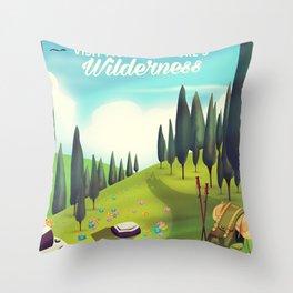 Go Hiking! Throw Pillow