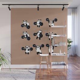 Olympic Lifting Panda Wall Mural