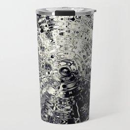 Abstract metalic circle shape Travel Mug