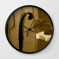 cello Wall Clocks featuring Cello by CC McAlister