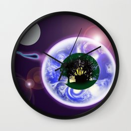 ANOTHER RETURN TO CONTINUE THE JOURNEY Wall Clock