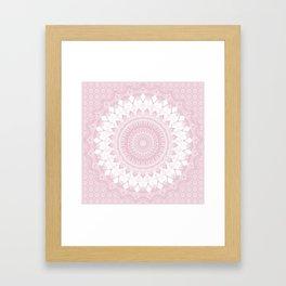 Boho Pink Mandala Framed Art Print