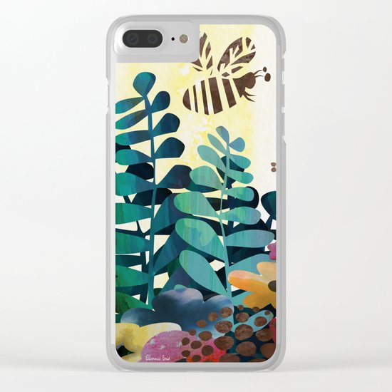 Busy Bees Clear iPhone Case