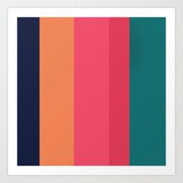 Cozy colors Art Print