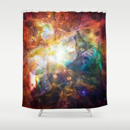 The Cat Galaxy Shower Curtain