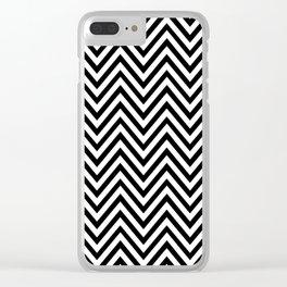 Chevron, Print, Minimal, Scandinavian, Abstract, Pattern, Modern art Clear iPhone Case