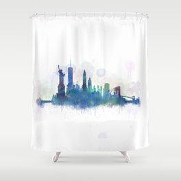 NY New York City Skyline Shower Curtain