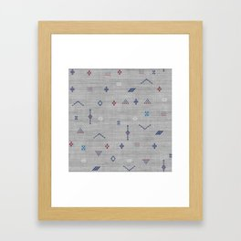 Cactus Silk Pattern in Grey Framed Art Print