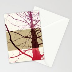 Distorted tree Stationery Cards