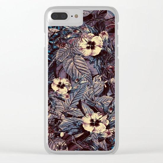 dark flowers Clear iPhone Case