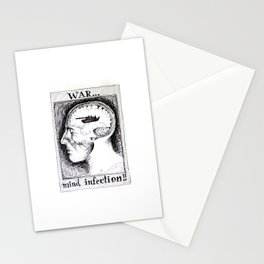 War is a Mind Infection Stationery Cards