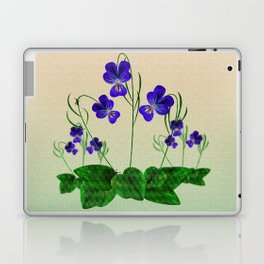 Blue Violets Laptop & iPad Skin